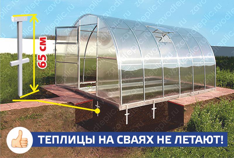 Строим теплицу из поликарбоната на фундаменте своими руками